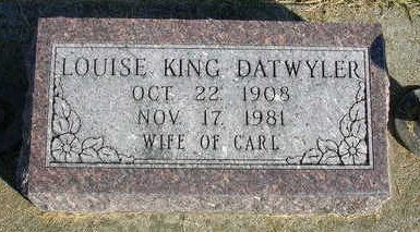 KING DATWYLER, LOUISE - Madison County, Iowa | LOUISE KING DATWYLER