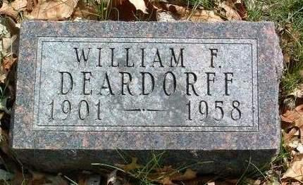 DEARDORFF, WILLIAM FRANKLIN - Madison County, Iowa | WILLIAM FRANKLIN DEARDORFF