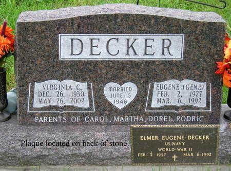 DECKER, ELMER EUGENE - Madison County, Iowa | ELMER EUGENE DECKER