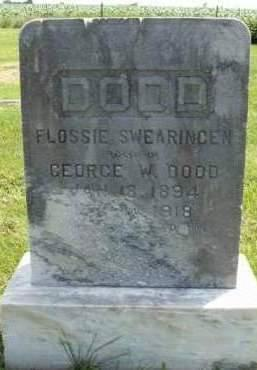 SWEARINGEN DODD, FLOSSIE - Madison County, Iowa | FLOSSIE SWEARINGEN DODD