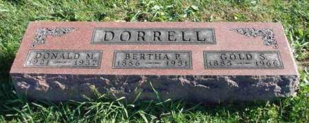 GORDON DORRELL, BERTHA P. - Madison County, Iowa | BERTHA P. GORDON DORRELL