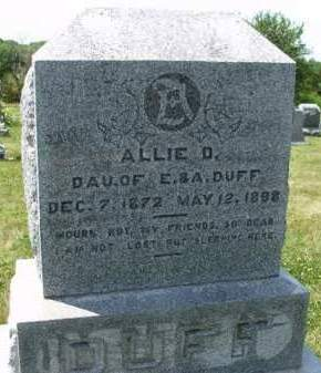 DUFF, ALICE D. (ALLIE) - Madison County, Iowa | ALICE D. (ALLIE) DUFF