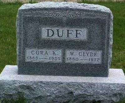 DUFF, CORA K. (CASS) - Madison County, Iowa | CORA K. (CASS) DUFF