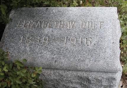 DUFF, ELIZABETH W. - Madison County, Iowa   ELIZABETH W. DUFF