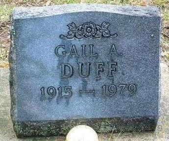 DUFF, GAIL ALFRED - Madison County, Iowa   GAIL ALFRED DUFF