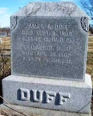 DUFF, JAMES ARTHUR - Madison County, Iowa | JAMES ARTHUR DUFF