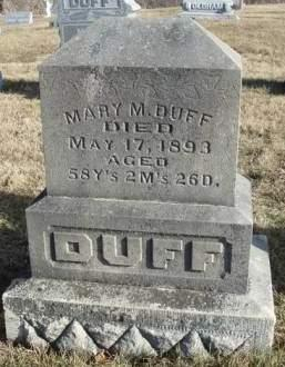 DUFF, MARY MATILDA - Madison County, Iowa | MARY MATILDA DUFF