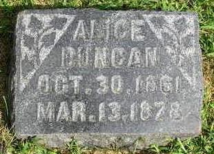 DUNCAN, ALICE - Madison County, Iowa | ALICE DUNCAN