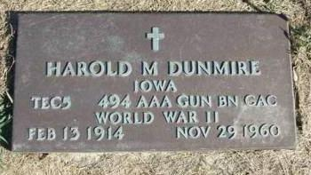 DUNMIRE, HAROLD M. - Madison County, Iowa | HAROLD M. DUNMIRE