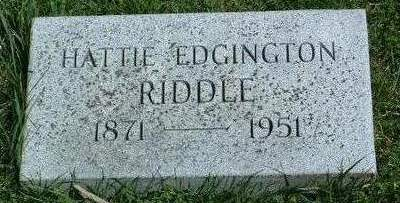 EDGINGTON, HATTIE A. - Madison County, Iowa | HATTIE A. EDGINGTON