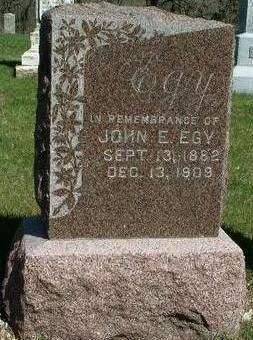 EGY, JOHN EDWIN - Madison County, Iowa | JOHN EDWIN EGY
