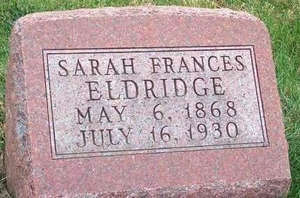ELDRIDGE, SARAH FRANCES - Madison County, Iowa | SARAH FRANCES ELDRIDGE