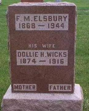 WICKS ELSBURY, DOLLIE HESTER - Madison County, Iowa | DOLLIE HESTER WICKS ELSBURY