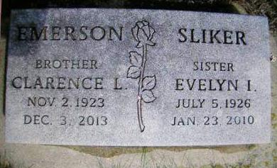 EMERSON SLIKER, EVELYN I. - Madison County, Iowa | EVELYN I. EMERSON SLIKER
