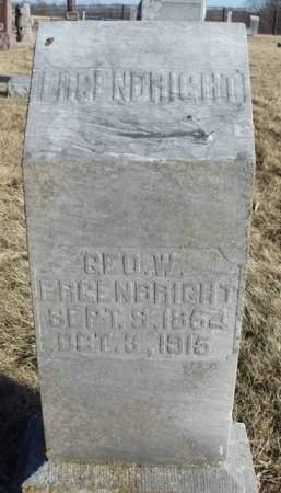 ERGENBRIGHT, GEORGE WASHINGTON - Madison County, Iowa | GEORGE WASHINGTON ERGENBRIGHT