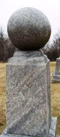 ERGENBRIGHT, MATTIE M. - Madison County, Iowa   MATTIE M. ERGENBRIGHT