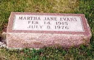 EVANS, MARTHA JANE - Madison County, Iowa | MARTHA JANE EVANS