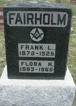 FAIRHOLM, FLORA HANNAH - Madison County, Iowa | FLORA HANNAH FAIRHOLM