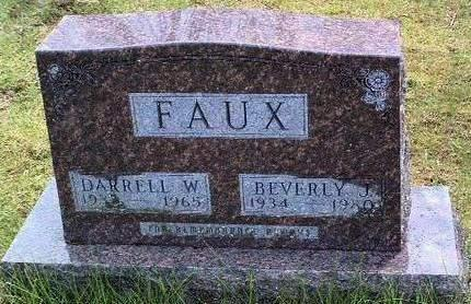 FAUX, BEVERLY JEAN - Madison County, Iowa | BEVERLY JEAN FAUX