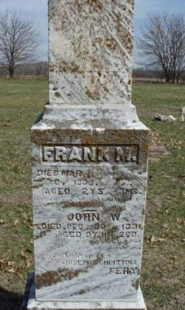 FERY, FRANK M. - Madison County, Iowa | FRANK M. FERY
