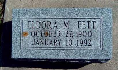 FETT, ELDORA MAY - Madison County, Iowa | ELDORA MAY FETT