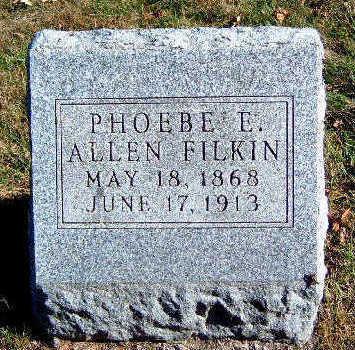 ALLEN FILKIN, PHOEBE ELIZABETH - Madison County, Iowa | PHOEBE ELIZABETH ALLEN FILKIN