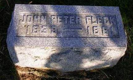 FLECK, JOHN PETER - Madison County, Iowa | JOHN PETER FLECK