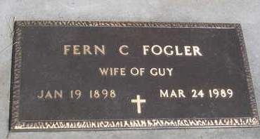 FREY FOGLER, FERN CORA - Madison County, Iowa | FERN CORA FREY FOGLER