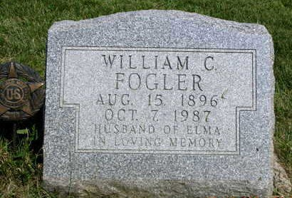 FOGLER, WILLIAM CLARENCE - Madison County, Iowa | WILLIAM CLARENCE FOGLER