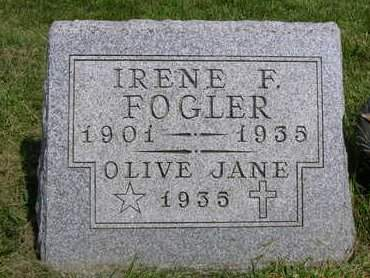 FOGLER, OLIVE JANE - Madison County, Iowa | OLIVE JANE FOGLER