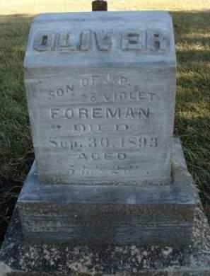 FOREMAN, OLIVER - Madison County, Iowa | OLIVER FOREMAN