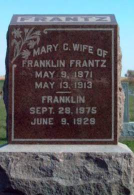 FRANTZ, MARY CATHERINE - Madison County, Iowa | MARY CATHERINE FRANTZ
