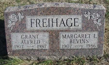 BEVINS FREIHAGE, MARGARET LORRAINE - Madison County, Iowa | MARGARET LORRAINE BEVINS FREIHAGE