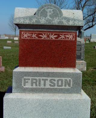 FRITSON, FAMILY STONE - Madison County, Iowa | FAMILY STONE FRITSON