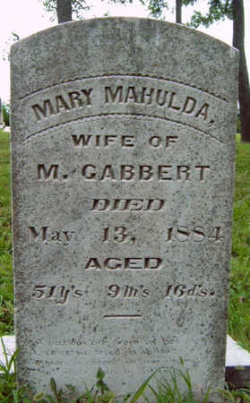 GABBERT, MARY MAHULDA - Madison County, Iowa | MARY MAHULDA GABBERT