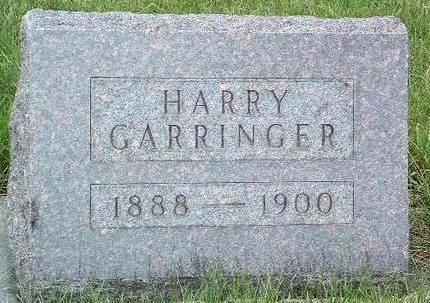 GARRINGER, HARRY BOND - Madison County, Iowa | HARRY BOND GARRINGER