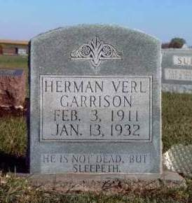 GARRISON, HERMAN VERL - Madison County, Iowa | HERMAN VERL GARRISON