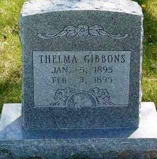GIBBONS, THELMA - Madison County, Iowa | THELMA GIBBONS