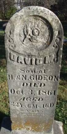 GIDEON, DAVID M. - Madison County, Iowa   DAVID M. GIDEON