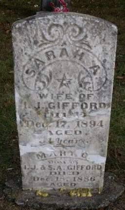 PORTER GIFFORD, SARAH A. - Madison County, Iowa | SARAH A. PORTER GIFFORD