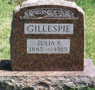 GILLESPIE, JULIA FLORENCE - Madison County, Iowa | JULIA FLORENCE GILLESPIE