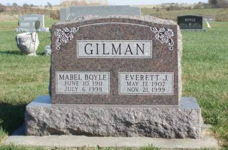 BOYLE GILMAN, MABEL ELEANOR - Madison County, Iowa | MABEL ELEANOR BOYLE GILMAN