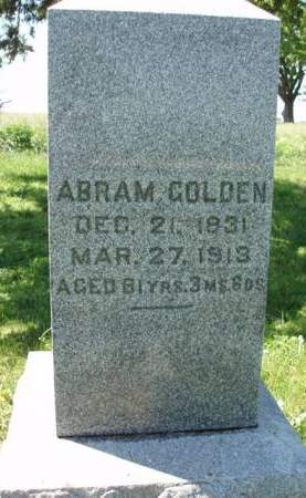 GOLDEN, ABRAM - Madison County, Iowa | ABRAM GOLDEN