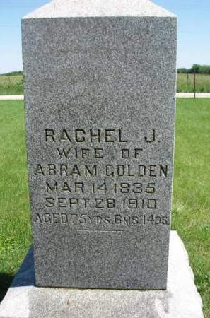 GOLDEN, RACHEL JANE - Madison County, Iowa | RACHEL JANE GOLDEN
