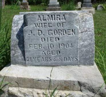 GORDEN, ALMIRA MARY - Madison County, Iowa | ALMIRA MARY GORDEN