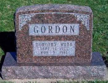 WEBB GORDON, DOROTHY - Madison County, Iowa | DOROTHY WEBB GORDON