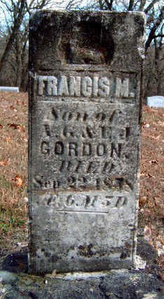 GORDON, FRANCIS M. - Madison County, Iowa | FRANCIS M. GORDON