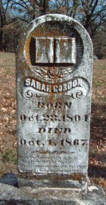 GORDON GORDON, SARAH ANN - Madison County, Iowa | SARAH ANN GORDON GORDON
