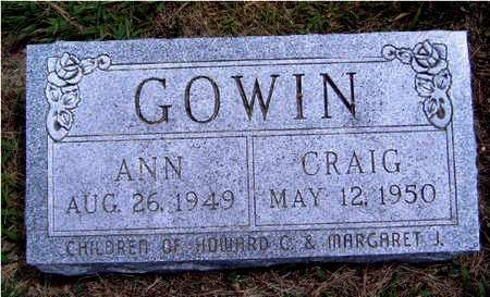 GOWIN, ANN - Madison County, Iowa | ANN GOWIN