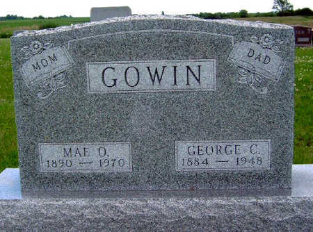 MEYER GOWIN, MAE OLIVE - Madison County, Iowa | MAE OLIVE MEYER GOWIN
